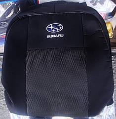 Чехлы Elegant на SUBARU Forester 2003-08 (подлокотник + аэрбег) автомобильные модельные чехлы на для сиденья