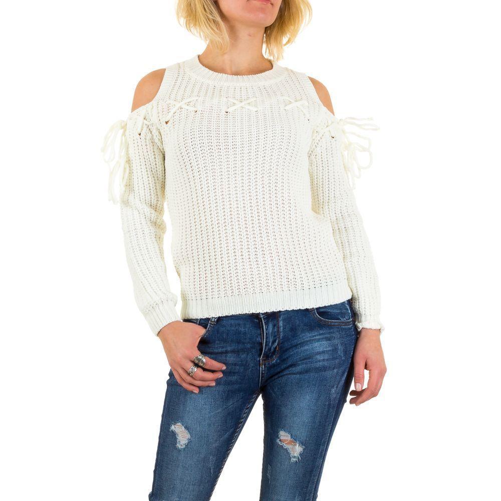 Женский джемпер с открытыми плечами Jcl Paris (Франция), Белый