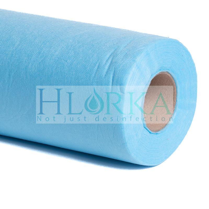 Одноразовые простыни 20 г/м² в рулоне 0.6*500 м., Голубые К_ТЕКС