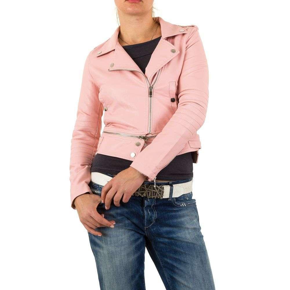 Байкерская куртка с молнией женская Noemi Kent (Франция), Пудровый