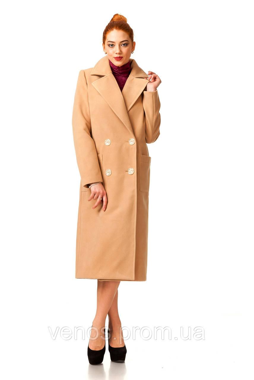 Модное женское кашемировое пальто. ПЛ005