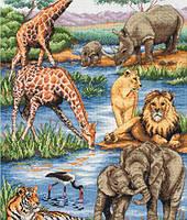 "Набір для вишивання ""Африканська дика природа (African Wildlife)"" ANCHOR MAIA"