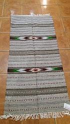 Доріжка килимок із шерсті на підлогу, сіра