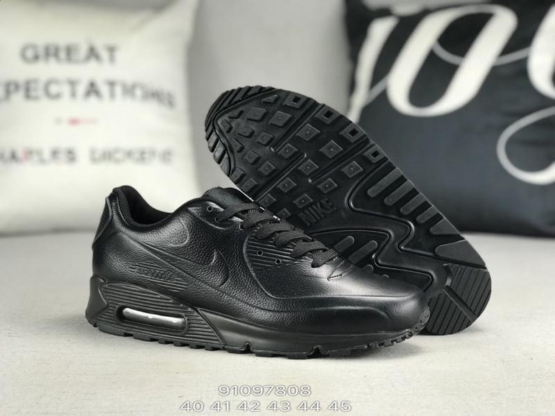 90b9047b Мужские кожаные кроссовки Nike Air Max 90 VT чёрные 41-45 - Интернет-магазин