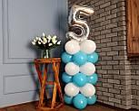 """Композиция с воздушных шариков """"Стойка с цифрой """"5"""" Насос в комплекте, фото 6"""