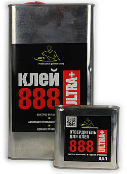 Термостойкий клей 888 Ultra+ для перетяжки торпеды 5л. (в комплекте с отвердителем US2H 500, мл).