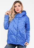 Демисезонная женская стильная куртка свободного кроя на силиконе Modniy Oazis синяя 90144/1, фото 1