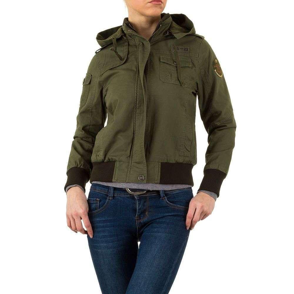 Куртка женская с капюшоном и патчами Daysie Jeans (Франция), Хаки