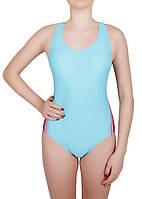 Купальник спортивный женский для плавания Rivage Line 1584, голубой