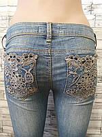 Женские джинсы AMN с кружевом