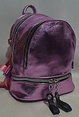 Модный женский рюкзак из кожзаменителя 8195 Розовый