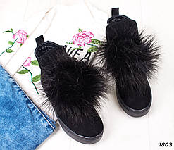 Ботинки-хайтопы замшевые, фото 3