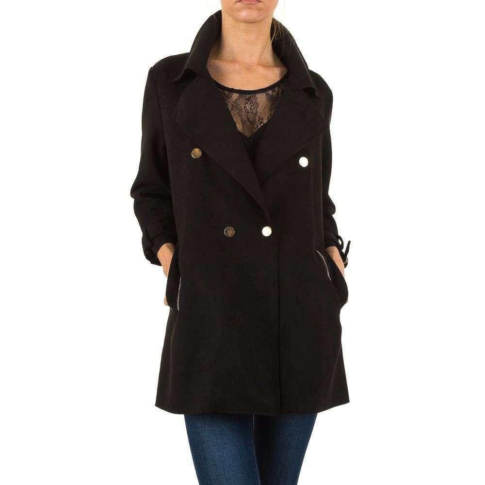 Пальто женское расклешенное (Европа) Черный