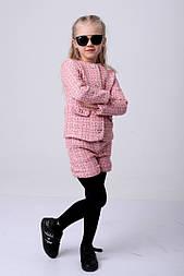 Костюм из твида для девочек: пиджак и шорты (3 цвета)
