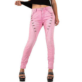 Бойфренды женские с пуговицами Plus Size Mozzaar (Европа) Розовый