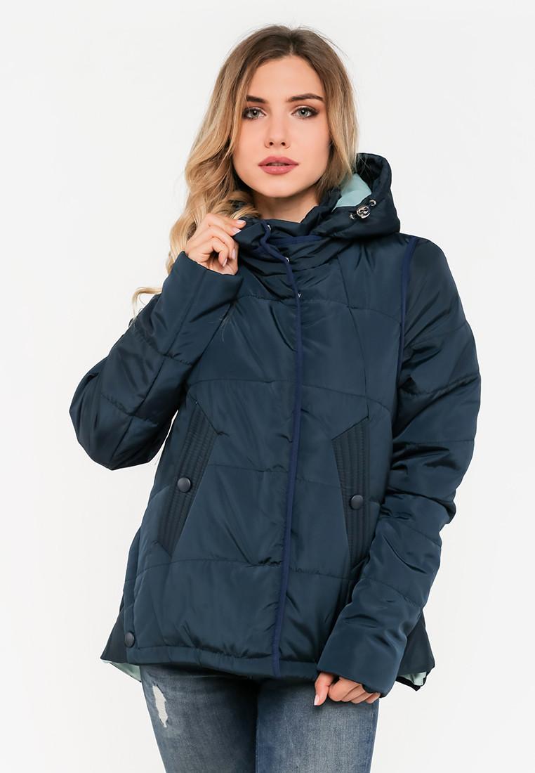 Женская демисезонная куртка на силиконе Modniy Oazis синяя 90145, фото 1