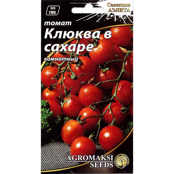"""Семена томата раннего, для открытого грунта, теплиц, комнат """"Клюква в сахаре"""" (0,1 г) от Agromaksi seeds"""