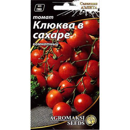"""Семена томата раннего, для открытого грунта, теплиц, комнат """"Клюква в сахаре"""" (0,1 г) от Agromaksi seeds, фото 2"""