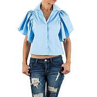 Блузка с короткими расклешенными рукавами Shk Mode (Европа) Голубой