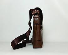 Мужская сумка через плечо Jeep. Коричневая. 21см х 19см / Кожа PU. 560 brown, фото 3