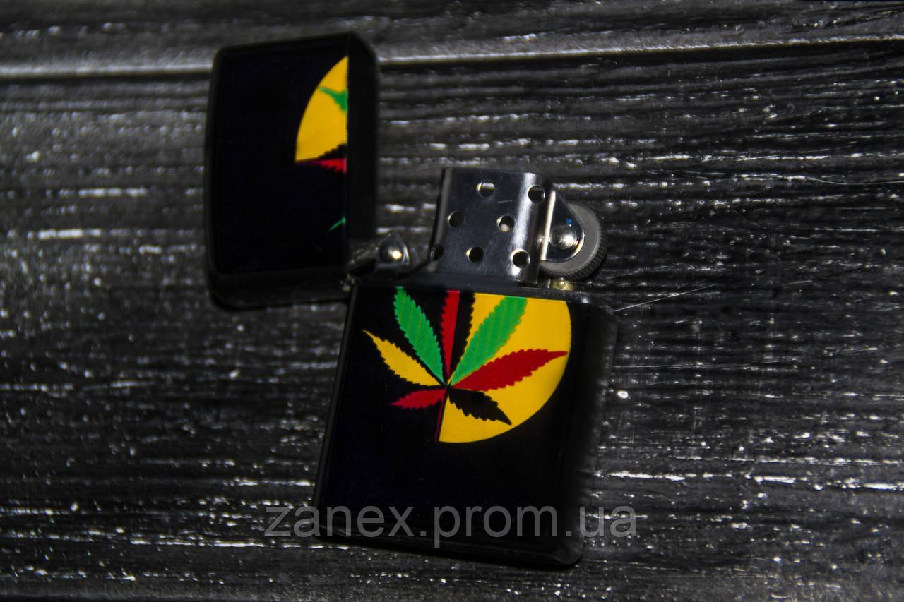 Зажигалка Zippo марихуана BN06