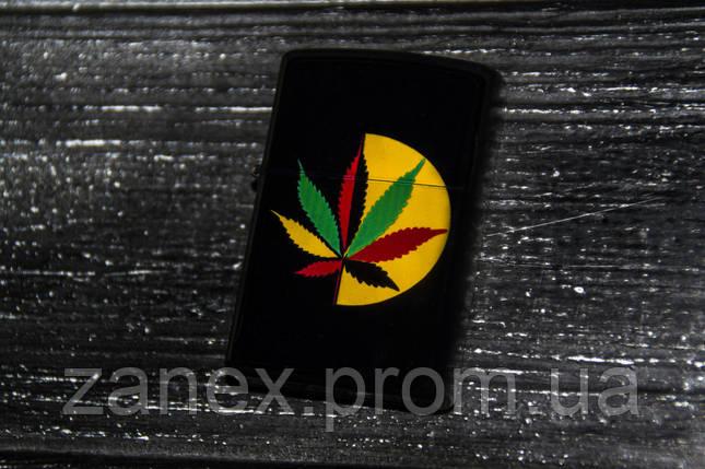 Зажигалка Zippo марихуана BN06, фото 2