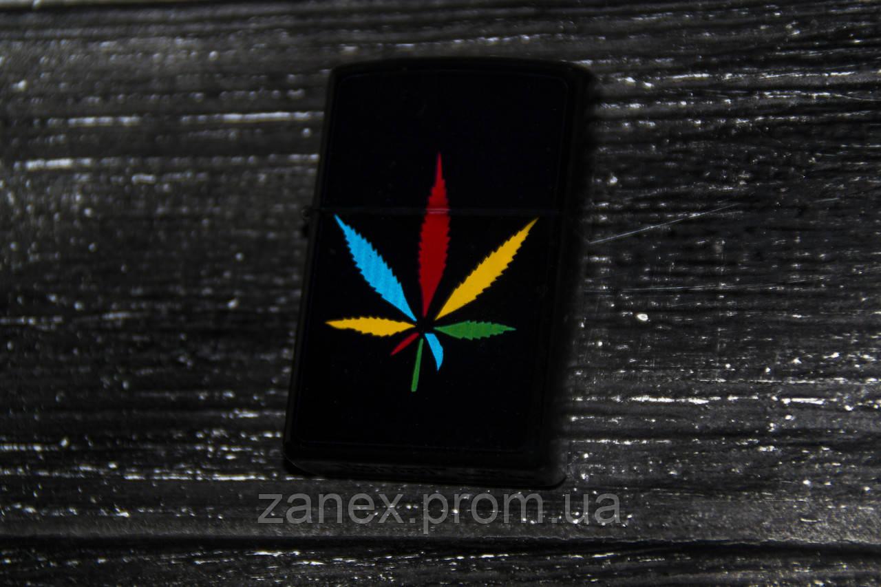 Зажигалка Zippo лист каннабиса BN08