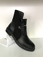Демисезонные ботинки из натуральной кожи и замши, фото 1