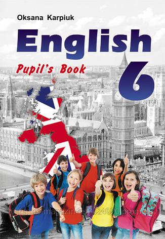 """Англійська мова 6 клас. Підручник """"English - 6"""" для 6-го кл. + аудіо CD. Карпюк О., фото 2"""