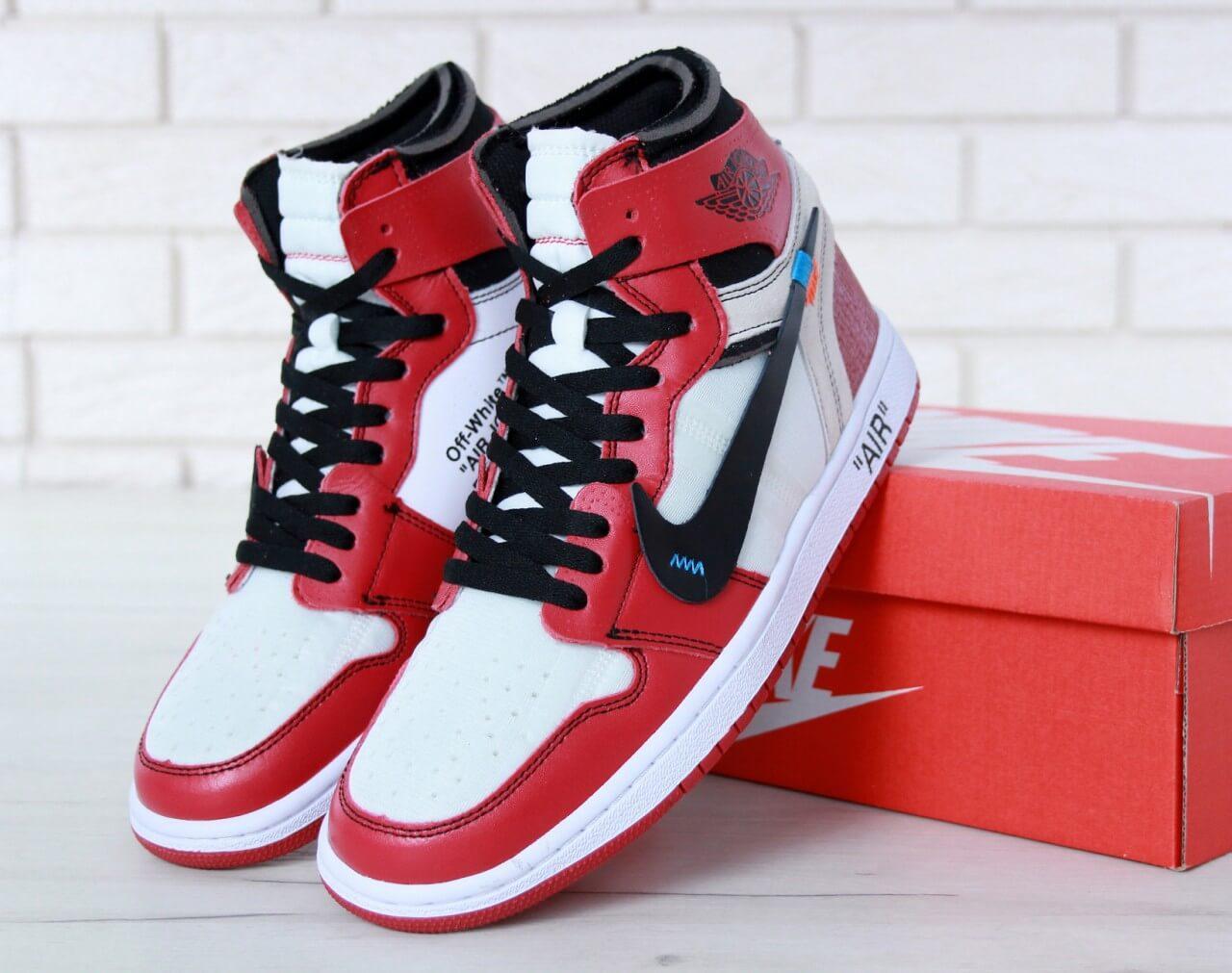 e12ac5e5 Баскетбольные кроссовки Nike Air Jordan 1 Off White купить в Киеве ...