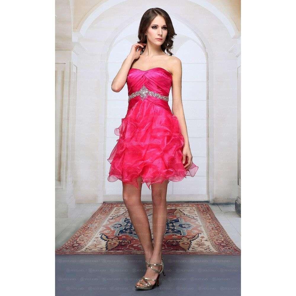Женское платье от Festamo - розовый - Мкл-F2720-розовый
