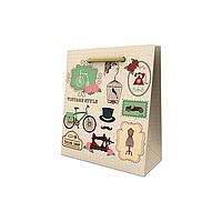 Пакет подарочный 15,5*15*7,5 см.