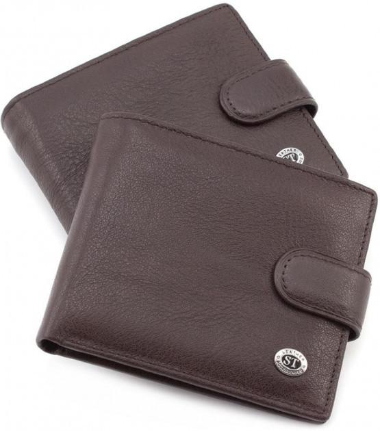 Классический  мужской портмоне из натуральной кожи коричневого цвета Sergio Torretti (ST Leather) ST104