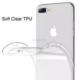 Чехол для айфона 7+ 8+ прозрачный силиконовый прозорий силіконовий