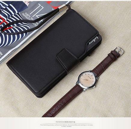 4fdf6ee08ecb Стильный мужской кожаный клатч, кошелек. Черный. Baellerry Active. Балери,  фото 2