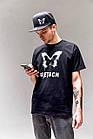 Черная мужская футболка Detach, фото 5