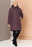 Длинная зимняя женская куртка VS 184, шоколад, фото 1