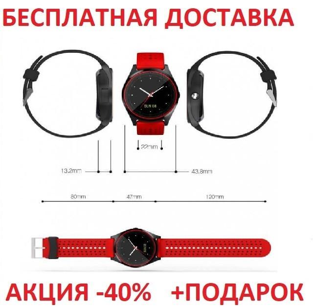 Наручные часы Smart V9  картон  Умные часы фитнес трекер,фитнес браслет,умные здоровье Original size