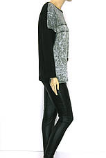 Жіночий трикотажний реглан з принтом , фото 2