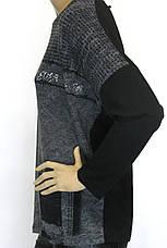 Жіночий трикотажний реглан з принтом , фото 3