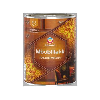 Водоразбавимый лак для мебели ESKARO Mooblilakk 40, 0,9л, полуглянцевый