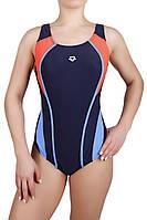 Купальник спортивный женский для плавания Arena 8996, синий