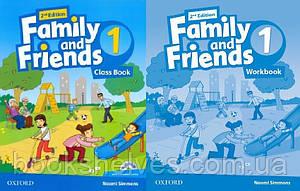 Английский язык Комплект Family and Friends 2nd Second Edition 1 ClassBook + WorkBook (UA)