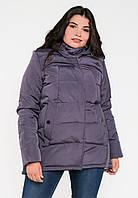 Женская зимняя куртка-парка больших размеров на двойном силиконе Modniy  Oazis лаванда 90188 038ab7f60cddd