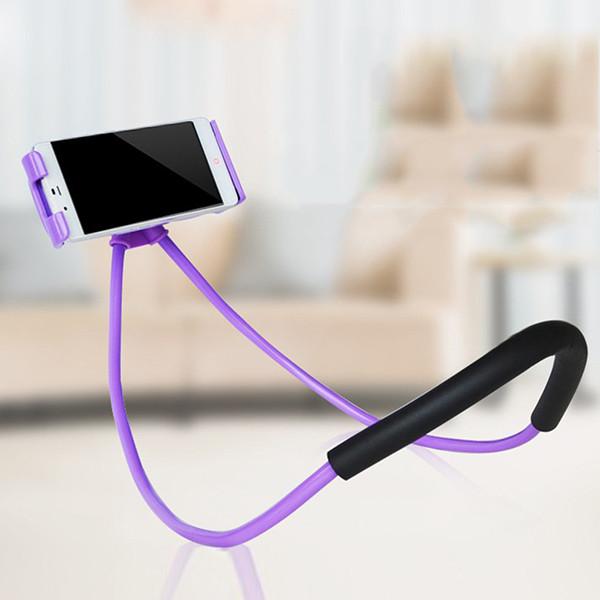 Держатель универсальный на шею для телефона Phone Holder фиолетовый