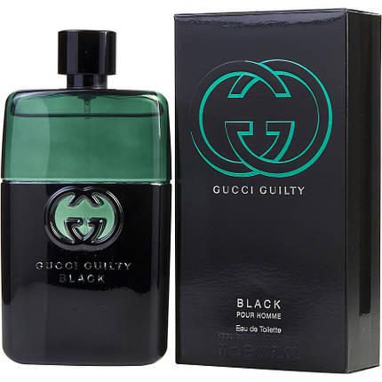 Мужская туалетная вода Gucci Guilty Black Pour Homme edt 90 ml реплика, фото 2