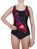 Купальник спортивный женский для плавания Rivage Line 8716, черный