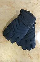Перчатки для мальчика зимние Плащевка с утеплителем синий