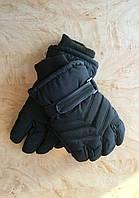 Перчатки для мальчика зимние Плащевка с утеплителем черный