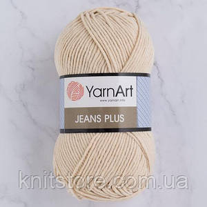 Пряжа YarnArt Jeans Plus Молочный